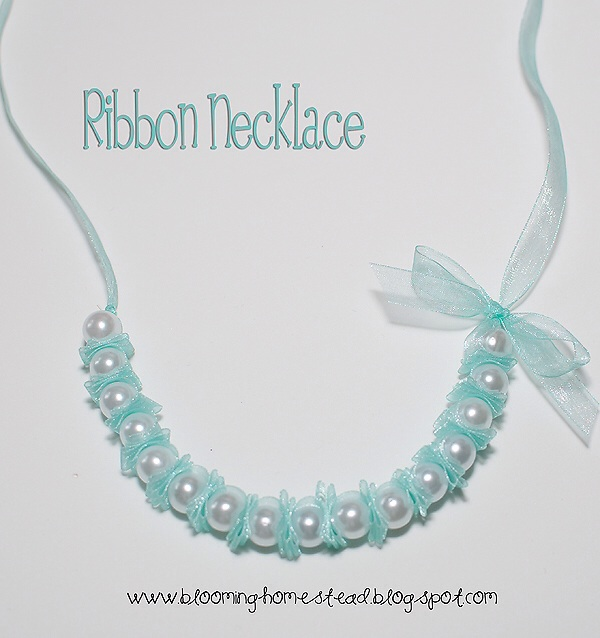 DIY ribbon necklace by blooming homestead