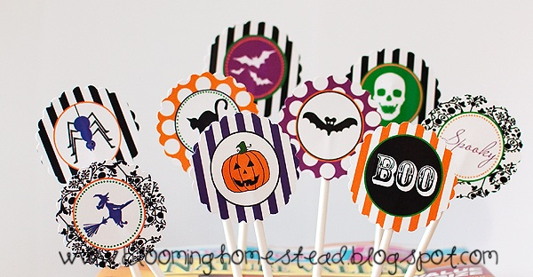 Halloween Cupcake Toppers & Labels