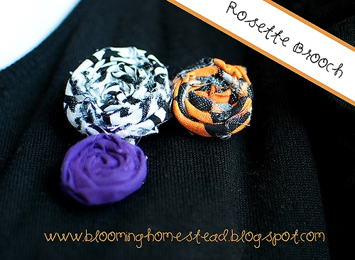 Halloween brooch by blooming homestead