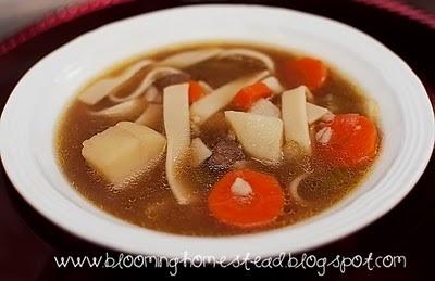 Beef, Barley, & Noodle Soup