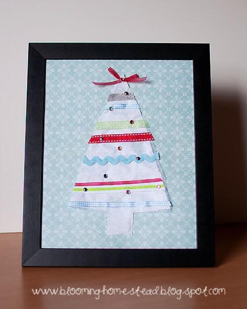 Scrap Ribbon Christmas Tree