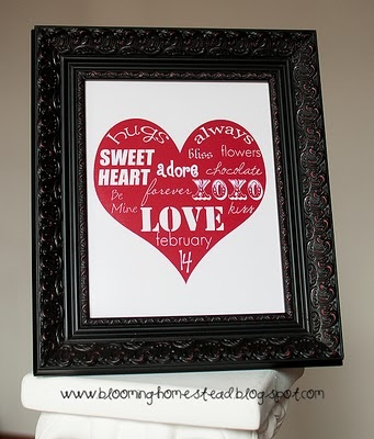 Valentine Art with free Valentine Printables