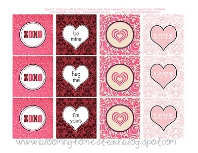 Valentine tags by blooming homestead