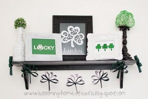 DIY shamrock banner at Blooming Homestead