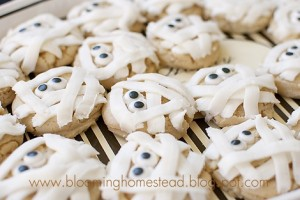 Mummy cookies at blooming homestead