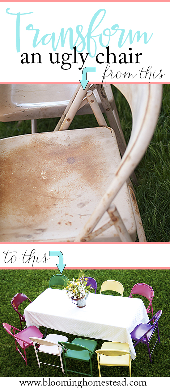 DIY Painted Metal Chairs by Blooming Homestead
