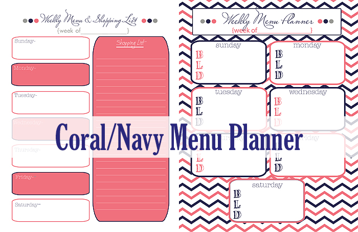 Menu Planning Printables