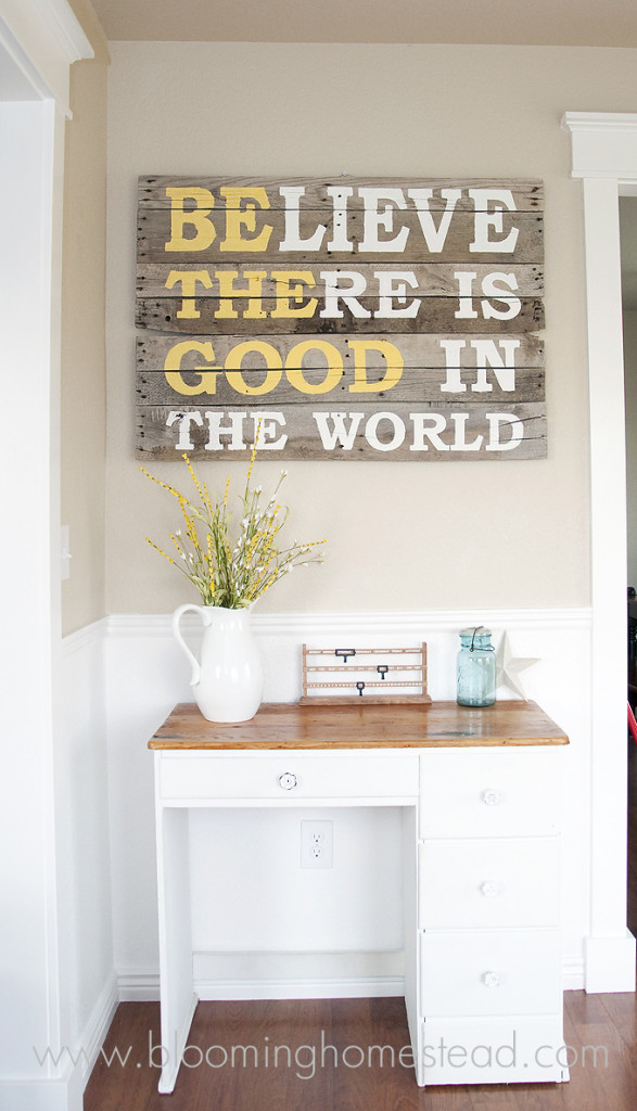 This DIY Pallet Wood Sign is not only beautiful but simple to make and shares a lovely message.