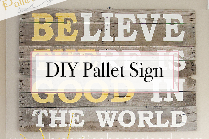 DIY Pallet Wood Sign