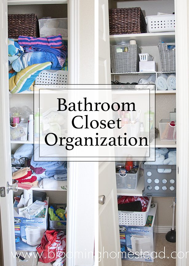 Linen Closet Makeover Blooming Homestead - Bathroom closet organization ideas