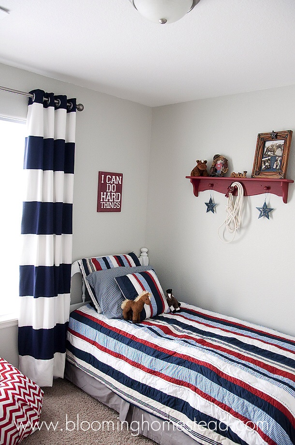 remarkable boys bedroom colors | Boy Bedroom Reveal - Blooming Homestead