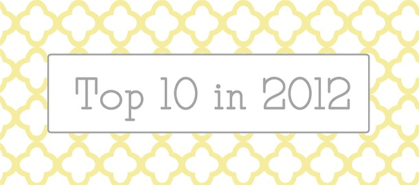 Top posts for 2012 {A Review}