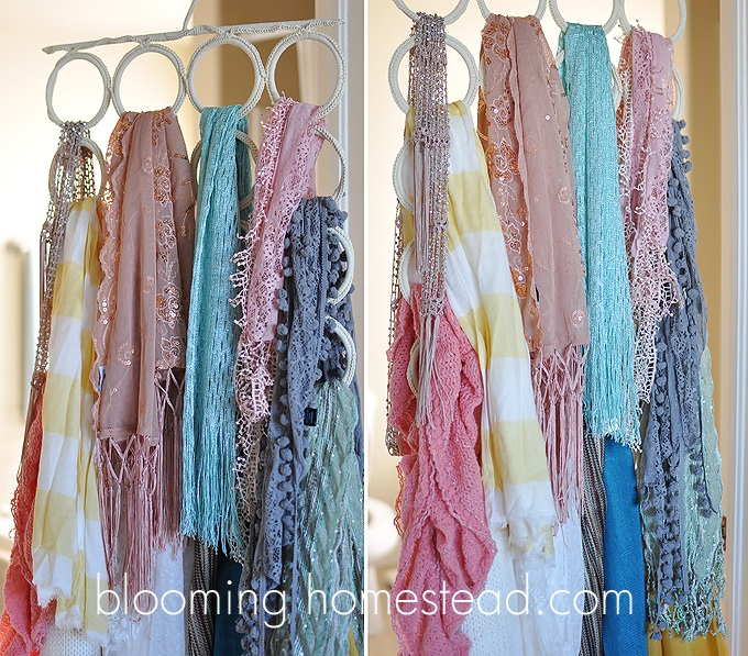 Project: Closet Organization {Scarves}