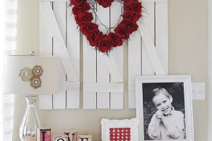 DIY valentine wreath at bloominghomestead
