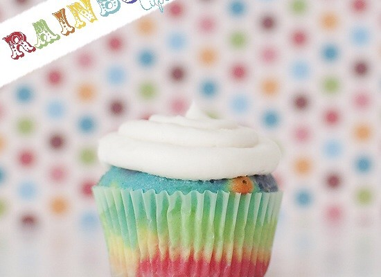 Rainbow cupcakes @blooming homestaed