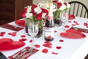 Valentines Tablescape by blooming homestead