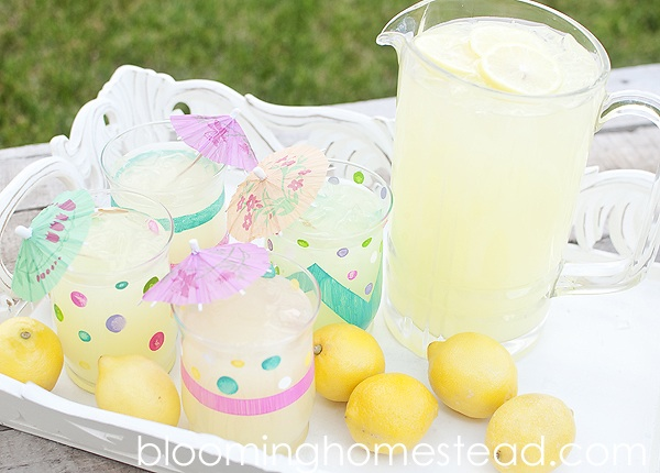 DIY Painted Glassware tutorial