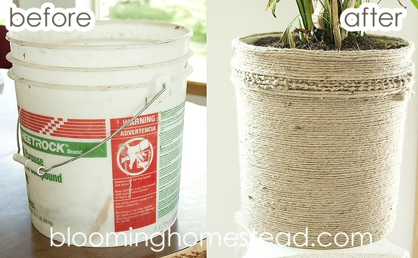 DIY Jute Bucket Makeover