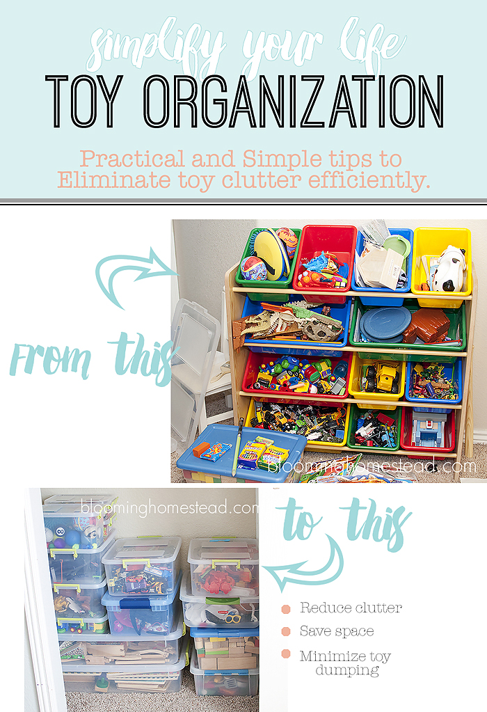 Simple and easy ways to organize toys and reduce toy dumping!