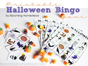 Halloween Bingo Game by blooming homestead