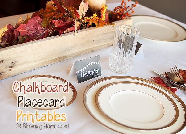 Thanksgiving Placecard Printable