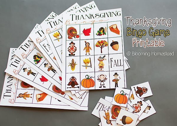 photo regarding Thanksgiving Bingo Printable named Thanksgiving Bingo Sport No cost Printable - Blooming Homestead
