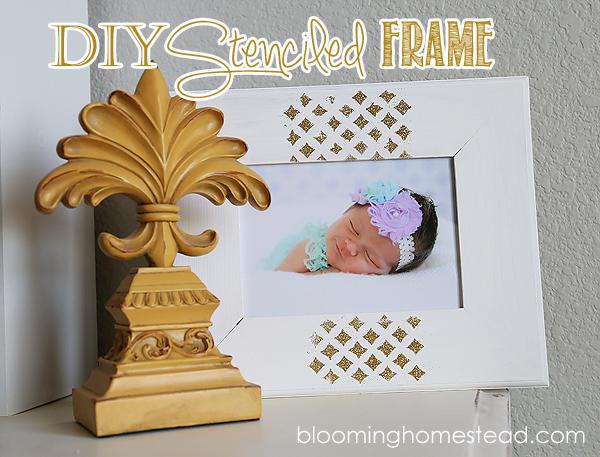 DIY Stenciled Gold Frame & Giveaway (closed)