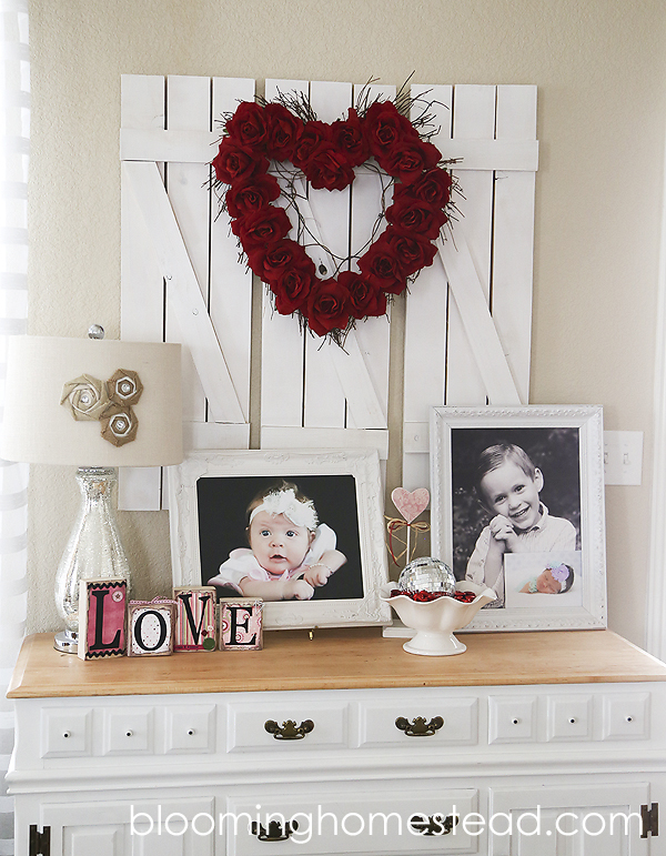 Valentine Vignette at Blooming Homestead