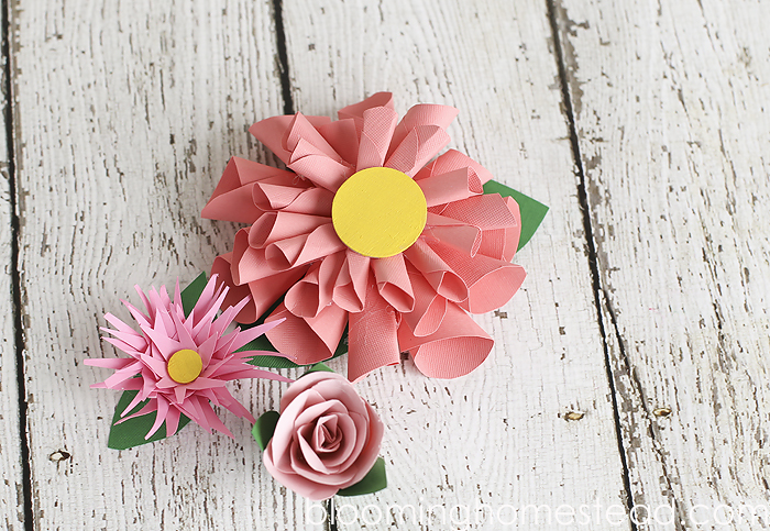 DIY Paper flowers with a video tutorial showing you how to make them!