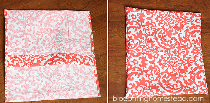 easy diy pillow slipcovers - blooming homestead Diy Throw Pillow Covers
