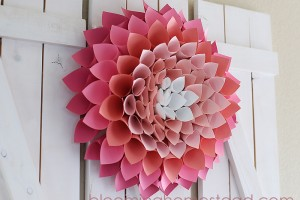 Paper Wreath By Blooming Homestead