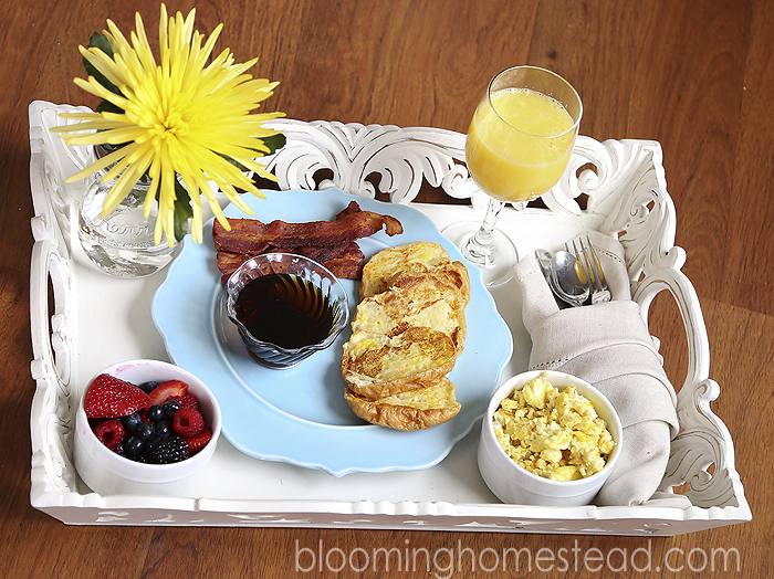 Mother's Day Breakfast in Bed at Blooming Homestead