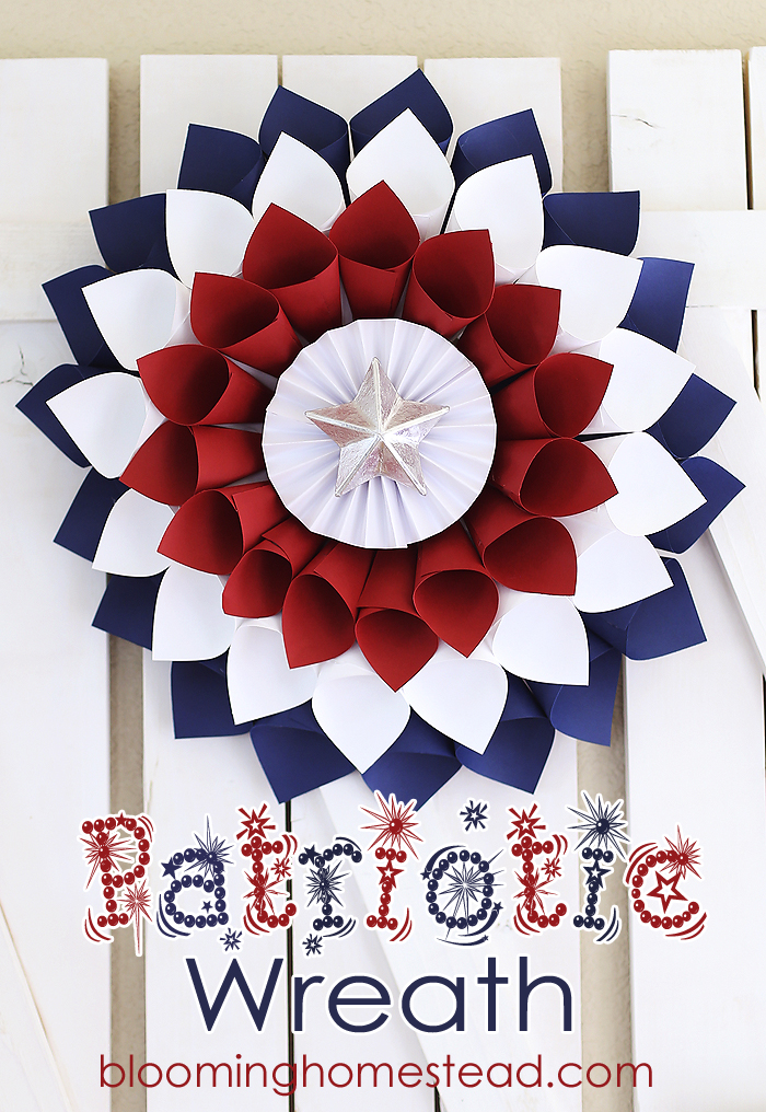 Patriotic Wreath by Blooming Homestead