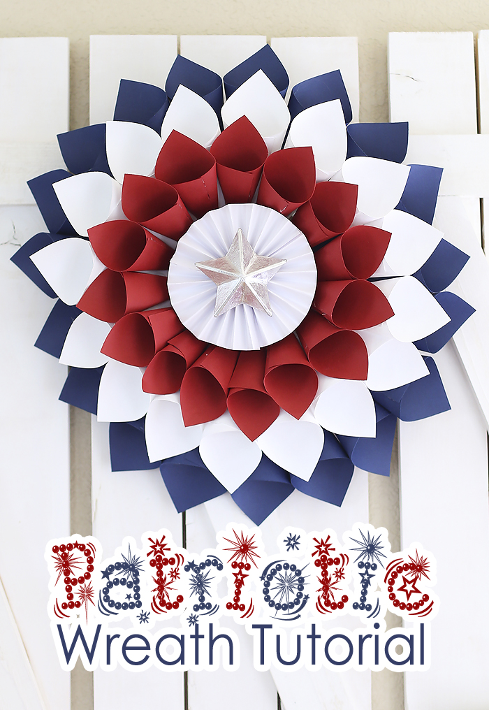 Patriotic Wreath by Booming Homestead