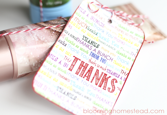Thank You Free Printable by Blooming Homestead