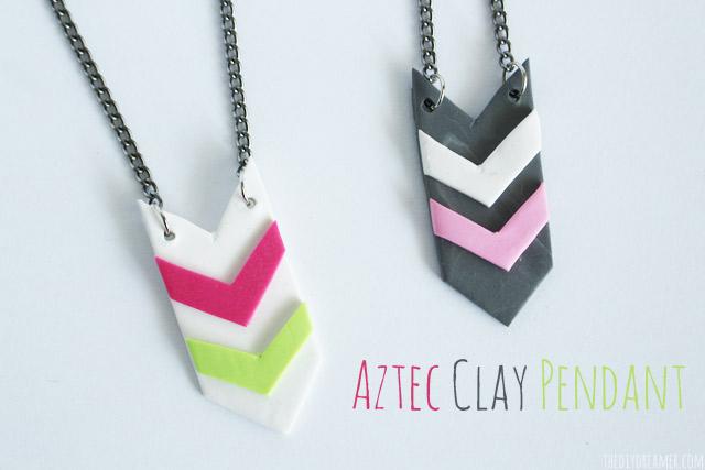 Aztec-Clay-Pendant