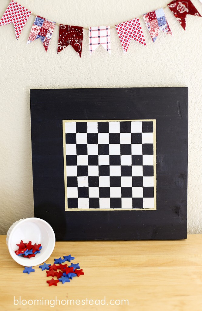 DIY Checker board game by Blooming Homestead