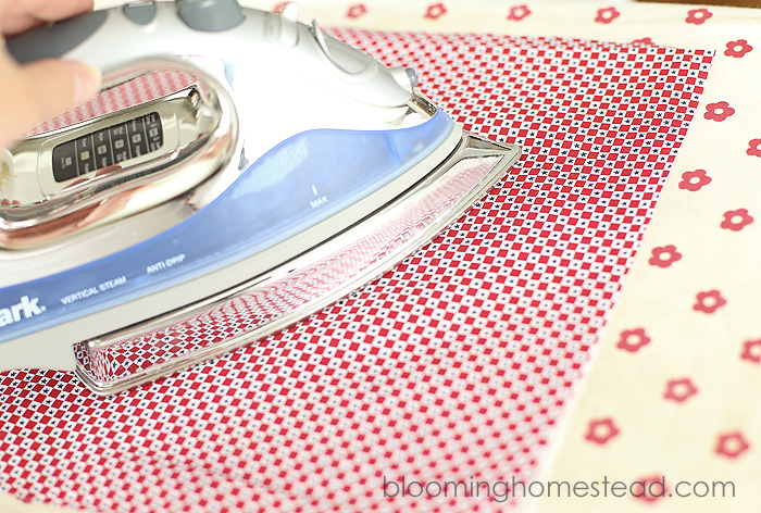 DIY Fabric Banner by Blooming Homestead
