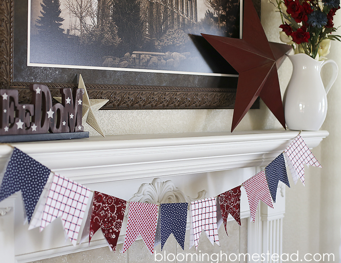 DIY Fabric Banners by Blooming Homestead