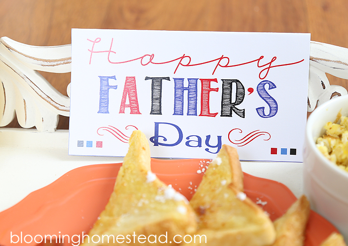 Father's Day Breakfast Printable at Blooming Homestead