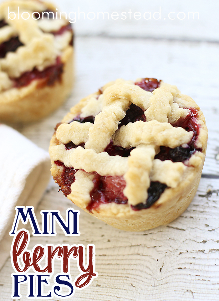Mini Berry Pies by Blooming Homestead