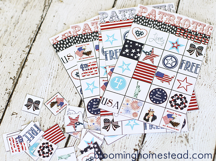 Patriotic 4th of July Bingo at Blooming Homestead