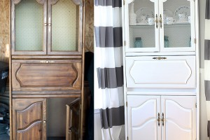 Cabinet makeover with Chalk Paint by Blooming Homestead