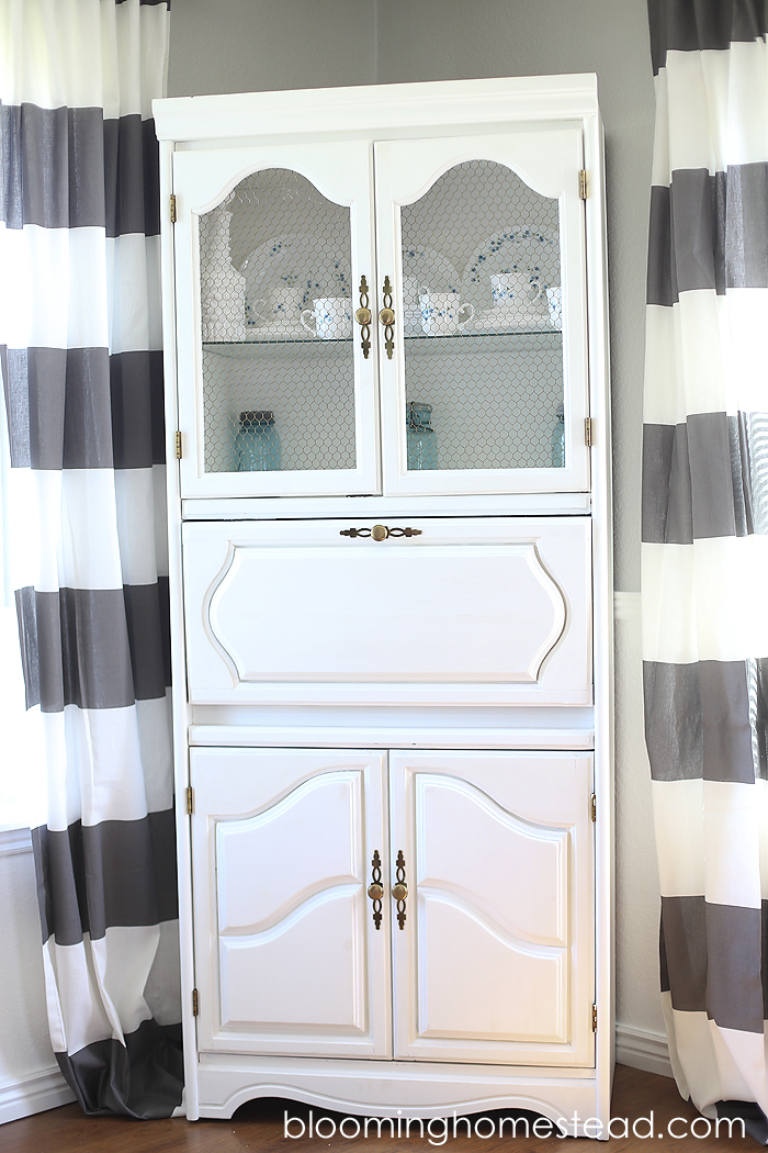 Cabinet Makeover with Chalk Paint - Blooming Homestead