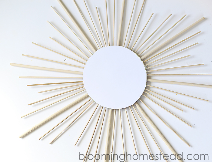 DIY Sunburst Mirror at Blooming Homestead