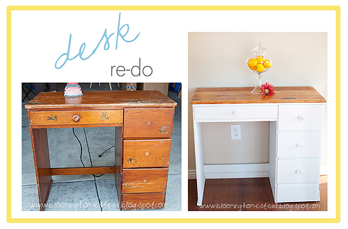 Desk Makeover at Blooming Homestead