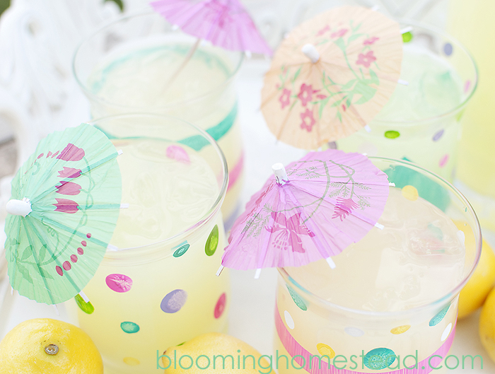 Painted Glasses tutorial by Blooming Homestead