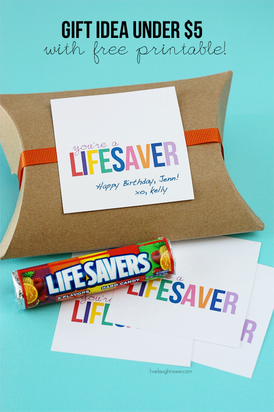 You're A Lifesaver Printable