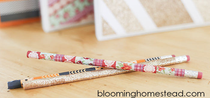 DIY Washi Tape Pencils By Blooming Homestead