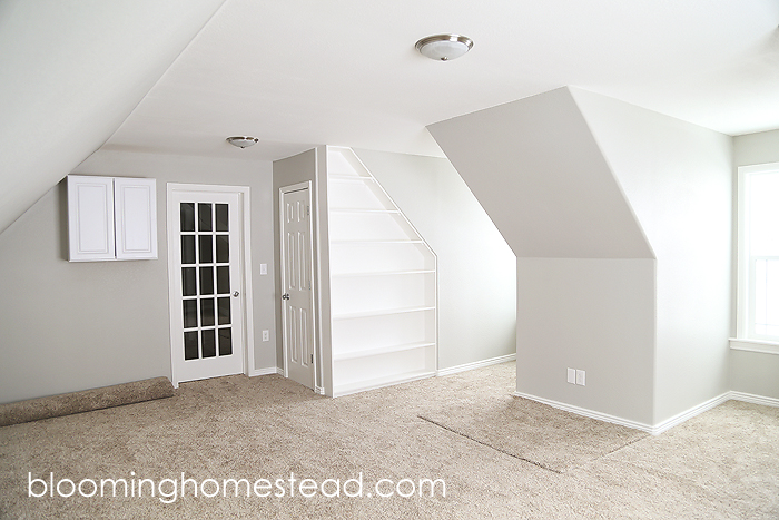 Attic Remodel by Blooming Homestead